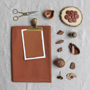 Tissu tencel Rouille par Atelier Brunette