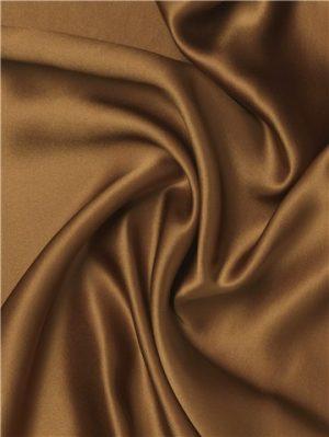 Crêpe de satin de soie brun par Stragier